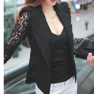 Jackets & Blazers - Black Lace Blazer